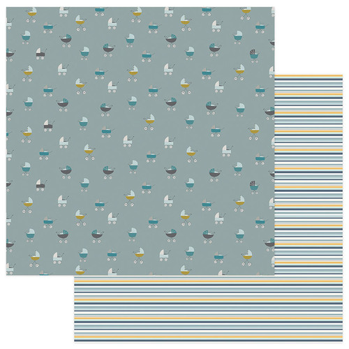 Snuggle Up Collection Boy Around Town 12 x 12 Double-Sided Scrapbook Paper by Photo Play Paper