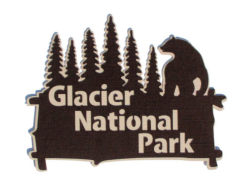 Glacier National Park 4 x 6 Title Laser Cut by SSC Laser Designs