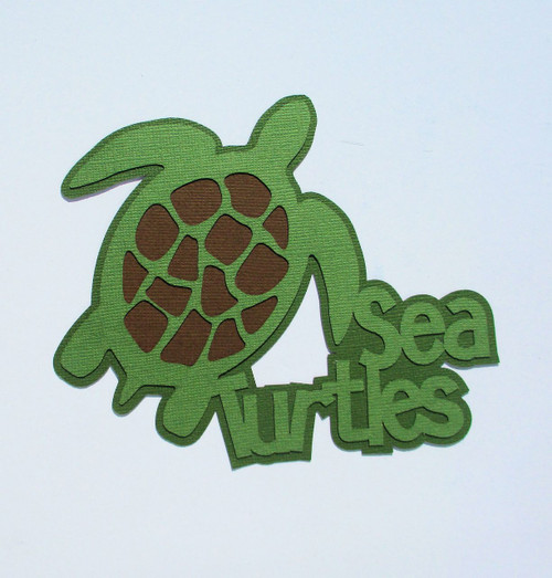 Sea Turtles 5 x 6 Laser Cut Scrapbook Embellishment by SSC Laser Designs