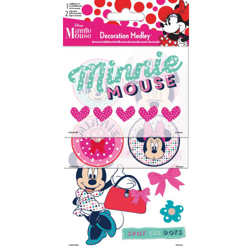 Disney Minnie Mouse Collection 4 x 8 Decoration Medley Stickers & Embellishments by Sandylion