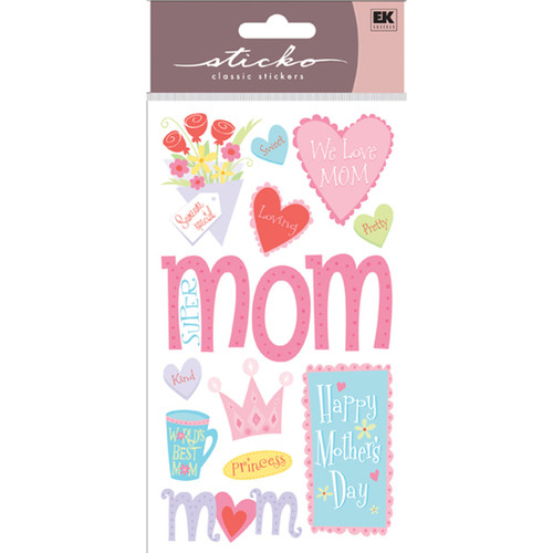 Happy Mother's Day 4 x 7 Scrapbook Sticker Sheet by Sticko