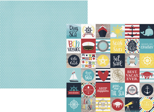 Cruisin' Collection 2 x 2 Elements 12 x 12 Double-Sided Scrapbook Paper  by Simple Stories