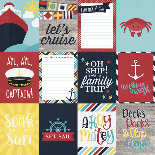 Cruisin' Collection 3 x 4 Elements 12 x 12 Double-Sided Scrapbook Paper  by Simple Stories