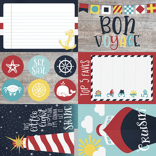 Cruisin' Collection 4 x 6 Elements 12 x 12 Double-Sided Scrapbook Paper by Simple Stories