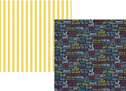 Cruisin' Collection AHOY 12 x 12 Double-Sided Scrapbook Paper by Simple Stories