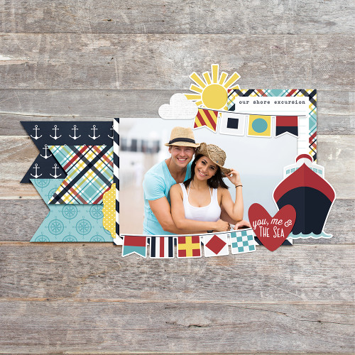Cruisin' Collection Combo Sticker 12 x 12 Scrapbook Combo Sticker Sheet by Simple Stories