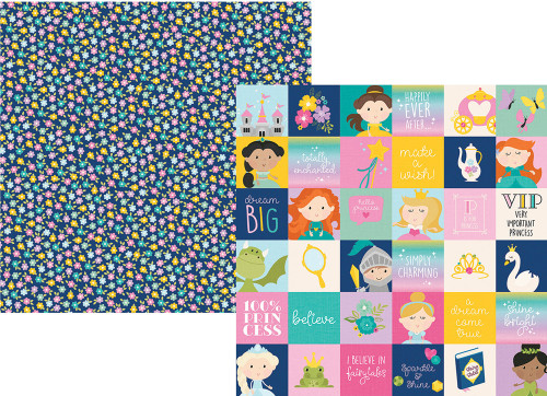 Little Princess Collection 2 x 2 Elements 12 x 12 Double-Sided Scrapbook Paper by Simple Stories