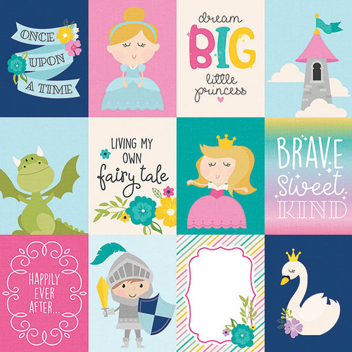 Little Princess Collection 3 x 4 Elements 12 x 12 Double-Sided Scrapbook Paper by Simple Stories