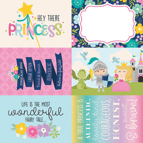 Little Princess Collection 4 x 6 Elements 12 x 12 Double-Sided Scrapbook Paper by Simple Stories