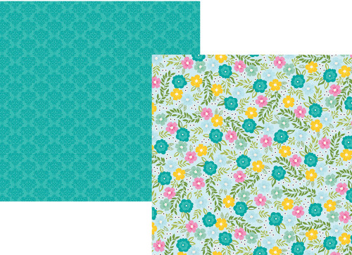 Little Princess Collection Enchanted 12 x 12 Double-Sided Scrapbook Paper by Simple Stories