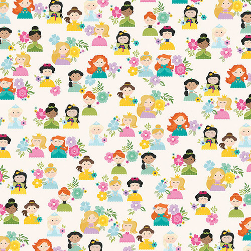 Little Princess Collection Hello Princess 12 x 12 Double-Sided Scrapbook Paper by Simple Stories