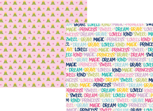 Little Princess Collection Sparkle & Shine 12 x 12 Double-Sided Scrapbook Paper by Simple Stories