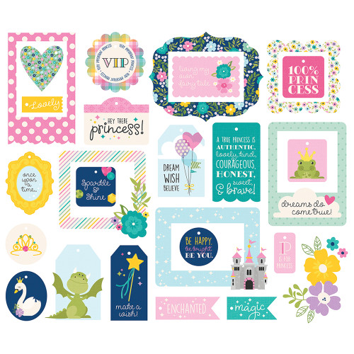 Little Princess Collection Tags & Frames {26} Die Cut Tags & Frames by Simple Stories