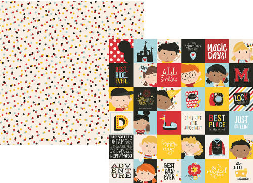 Say Cheese 4 Collection 2 x 2 Elements 12 x 12 Double-Sided Scrapbook Paper by Simple Stories