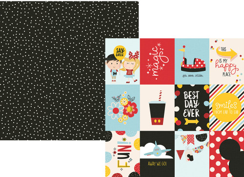 Say Cheese 4 Collection 3 x 4 Elements 12 x 12 Double-Sided Scrapbook Paper by Simple Stories
