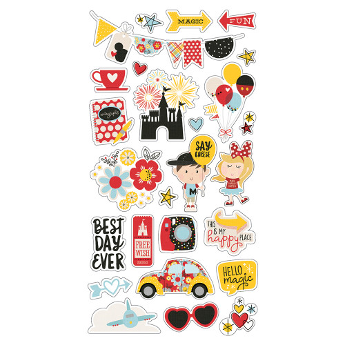 Say Cheese 4 Collection 6 x 12 Chipboard Stickers - 26 Chipboard Stickers by Simple Stories