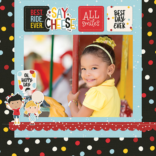 Say Cheese 4 Collection  4 x 4 Elements 12 x 12 Double-Sided Scrapbook Paper by Simple Stories