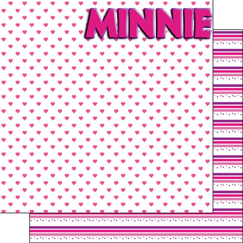 Magical Day of Fun Collection Minnie 12 x 12 Double-Sided Scrapbook Paper by Scrapbook Customs
