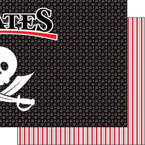 Magical Day of Fun Collection Pirates Right 12 x 12 Double-Sided Scrapbook Paper by Scrapbook Customs