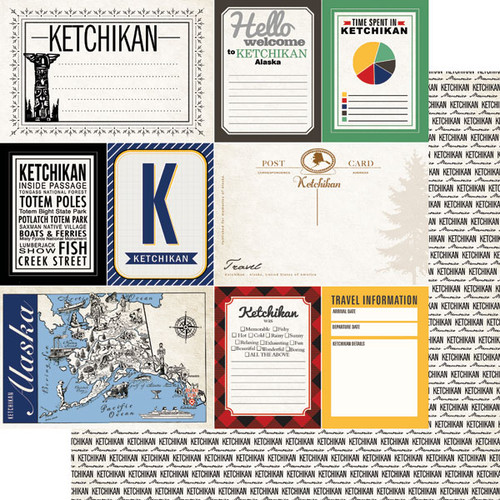 Alaskan Journal Collection Ketchikan Double-Sided Scrapbook Paper by Scrapbook Customs