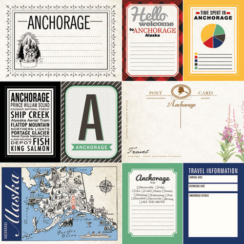 Alaskan Journal Collection Anchorage Double-Sided Scrapbook Paper by Scrapbook Customs