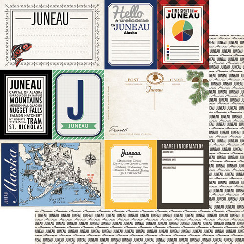 Alaskan Journal Collection Juneau Double-Sided Scrapbook Paper by Scrapbook Customs