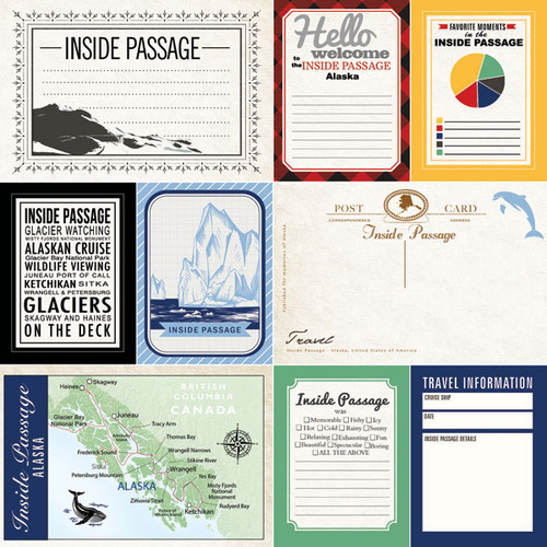 Alaskan Journal Collection Inside Passage Double-Sided Scrapbook Paper by Scrapbook Customs