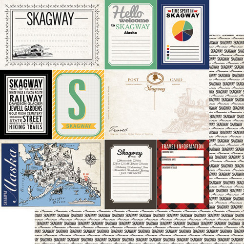 Alaskan Journal Collection Skagway Double-Sided Scrapbook Paper by Scrapbook Customs