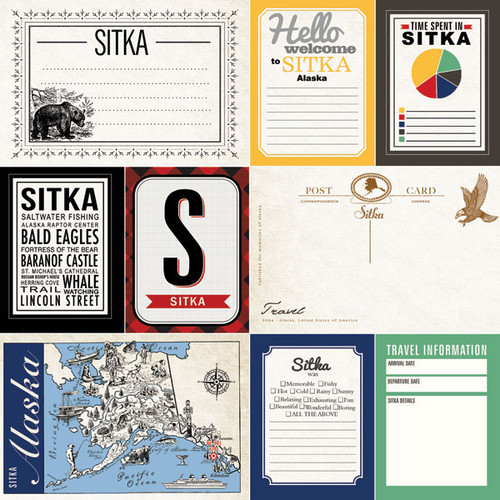 Alaskan Journal Collection Sitka 12 x 12  Double-Sided Scrapbook Paper by Scrapbook Customs