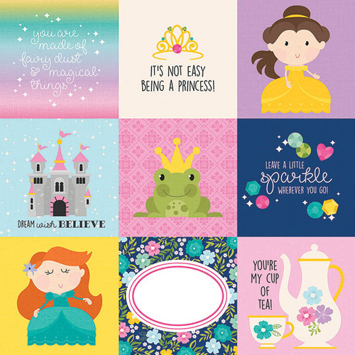 Little Princess Collection  4 x 4 Elements 12 x 12 Double-Sided Scrapbook Paper by Simple Stories