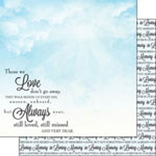 In Loving Memory Collection 12 x 12 Double-Sided Scrapbook Paper by Scrapbook Customs