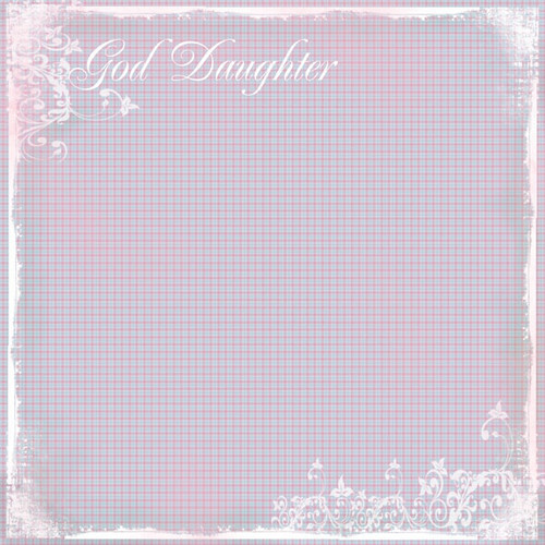 My Faith Collection God Daughter Plaid 12 x 12 Scrapbook Paper by Scrapbook Customs