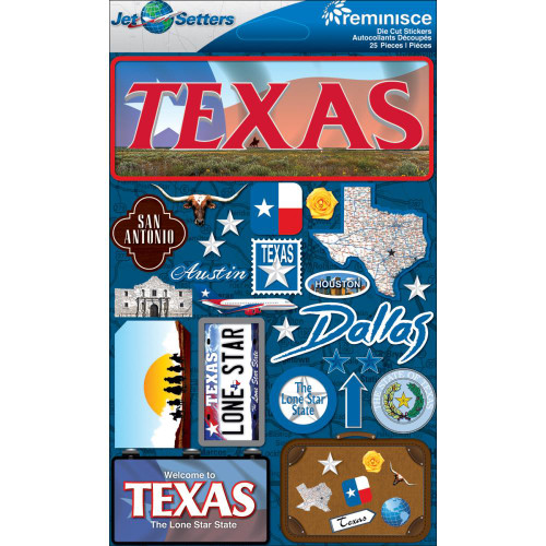 Jet Setter 2 Collection Texas 5 x 7 Scrapbook Embellishment by Reminisce