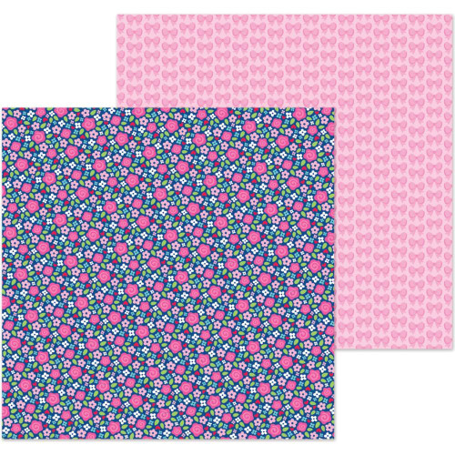 French Kiss Collection Les Fleurs 12 x 12 Double-Sided Scrapbook Paper by Doodlebug Design