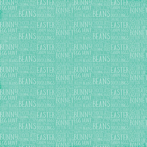 Celebrate Easter Collection Funny Bunny with Glossy Accents 12 x 12 Double-Sided Scrapbook Paper by Echo Park Paper