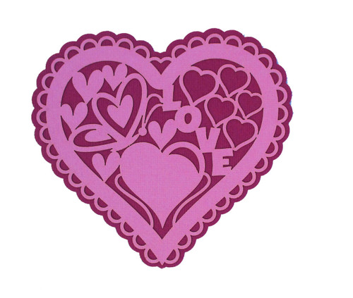 Love Lace 5 x 5 Laser Cut Scrapbook Embellishment by SSC Laser Designs