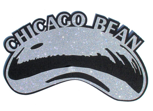 Millennium Park Chicago Bean 4 x 8 Laser Cut Scrapbook Embellishment by SSC Laser Designs