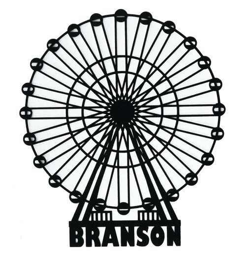 Branson, Missouri 5 x 6  Ferris Wheel Laser Cut Scrapbook Embellishment by SSC Laser Designs