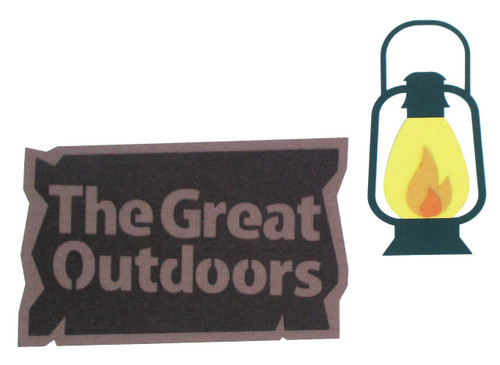 The Great Outdoors & Lantern Laser Cut Scrapbook Embellishments by SSC Laser Designs