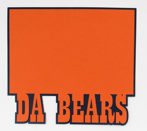 Da Bears 4.5  x 6.5 Photo Mat by SSC Laser Designs