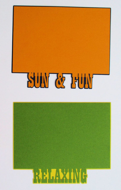 Relaxing and Sun & Fun 4.5  x 6.5 Photo Mats by SSC Laser Designs