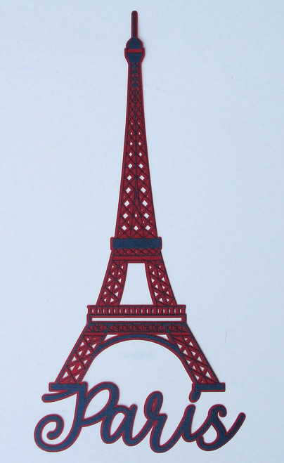 Paris Eiffel Tower 5 x 9 Laser Cut Scrapbook Embellishment by SSC Laser Designs