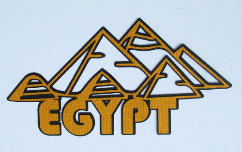 Egypt Pyramids 3 x 6 Laser Cut Scrapbook Embellishment by SSC Laser Designs