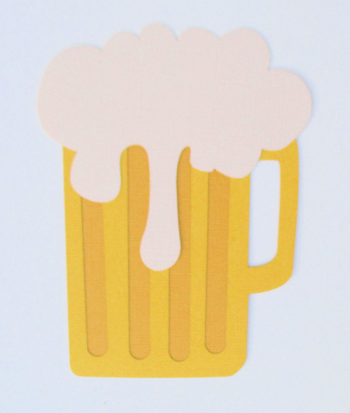 Beer Mug 4 x 5.5 Laser Cut Scrapbook Embellishment by SSC Laser Designs