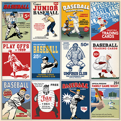 Baseball Collection 3 x 4 Journaling Cards 12 x 12 Double-Sided Scrapbook Paper by Carta Bella