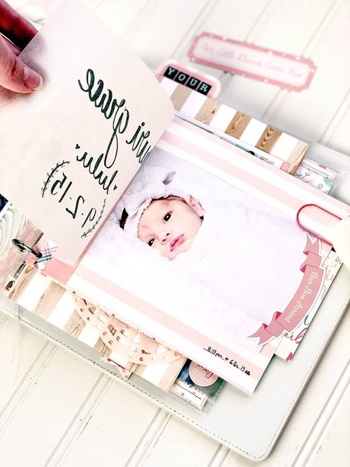 Hello Baby Girl Collection 6 X 12 Chipboard Accents Scrapbook Embellishments by Echo Park Paper