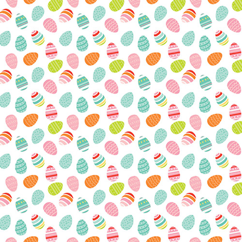 Easter Wishes Collection Egg Hunt 12 x 12 Double-Sided Scrapbook Paper by Echo Park Paper