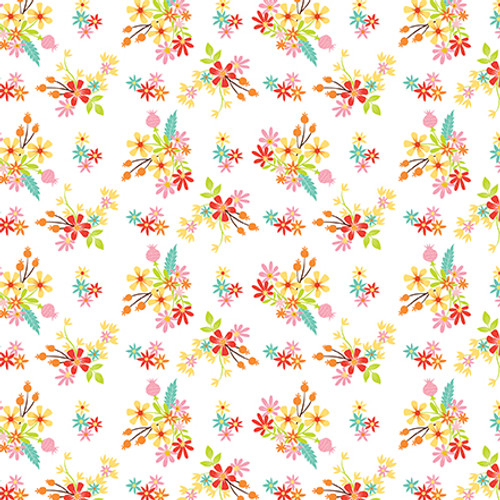 Easter Wishes Collection Easter Flowers 12 x 12 Double-Sided Scrapbook Paper by Echo Park Paper