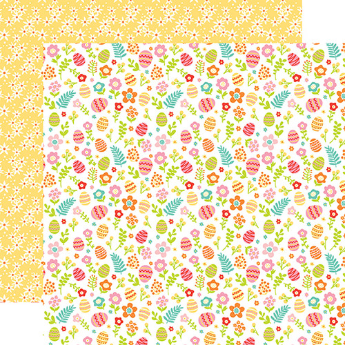 Easter Wishes Collection Hiding Eggs 12 x 12 Double-Sided Scrapbook Paper by Echo Park Paper