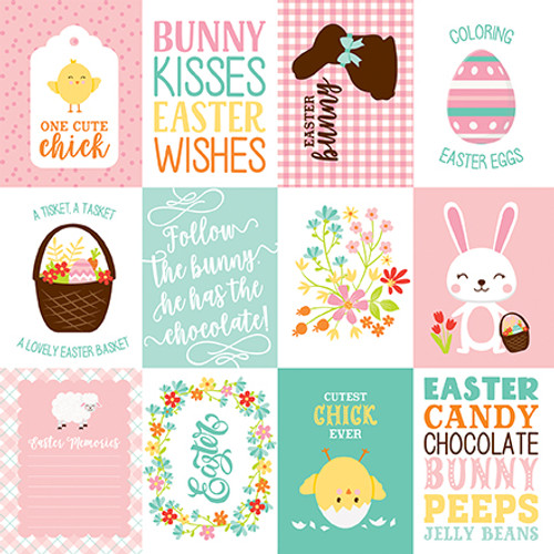 Easter Wishes Collection 3 X 4 Journaling Cards 12 x 12 Double-Sided Scrapbook Paper by Echo Park Paper